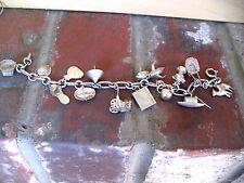 Chinese Silver Unique 13 Charm Bracelet
