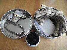 primitive fire starting kit flint & X-wide steel striker home forged prepper old