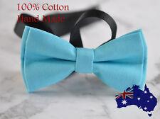 Men Women 100% Cotton Matte Baby AQUA BLUE Craft Bow Tie Bowtie Wedding Party