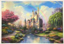 NEW Disney Cinderella Castle Thomas Kinkade 1000 Piece Jigsaw Puzzle SEALED