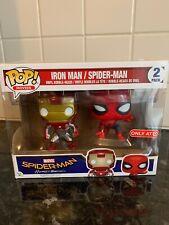 Funko POP Vinyl Figure 2 Pack Spider-Man Iron Man Homecoming Target Exclusive