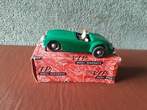 Vintage Victory Industries Slot Car - Green MGA 1 - Missing windshield - Boxed.