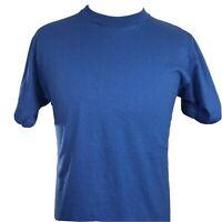 VTG JERZEES SHORT SLEEVE BLANK BLUE SINGLE STITCH USA MADE T SHIRT XL