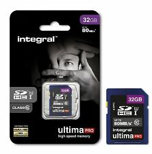 Integral 32GB UltimaPRO High Speed 80MB/s SDHC Class 10 UHS-I U1 for Full HD.
