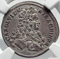 1723 AUSTRIA Holy Roman Empire CHARLES VI   AUSTRIAN Silver Coin NGC i82378