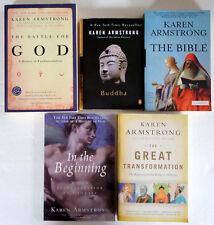 Karen Armstrong Lot 5 TPB: Battle God, Bible, Transformation, Buddha, Beginning