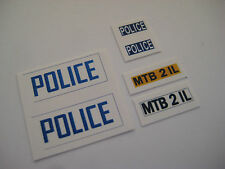 Dinky 250 - Mini Cooper Police Car Stickers - B2G1F