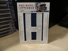 "National Treasures Pro Bowl Letterman ""H"" Jersey Lions Ndamukong Suh 3/3  2013"