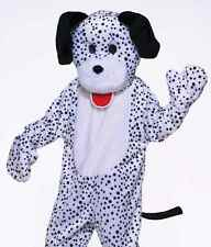 Adult Plush Furry Deluxe Dalmatian Mascot Cosplay Spotted Dog Costume  - Fast -