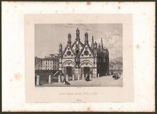TOSCANA. PISA. Santa maria della Spina a Pise. Acquatinta da dagherrotipo, 1850