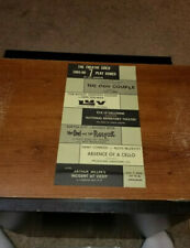 1965-66 THE THEATRE GUILD  IN LOS ANGELES 7 PLAY SERIES FLYER HANDBILL 6X10-1/2