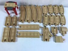 Lot of 23 Thomas & Friends the Train Engine Wooden Railway Tank Tracks End Track