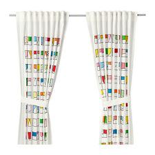 IKEA HEMMAHOS - Pair of Curtains 2 Panels Window Treatment Children Multicolor