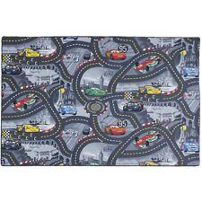 Kinderteppich Disney CARS Teppich Straßen Spielteppich grau Größe 165x220 cm