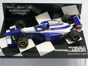 Minichamps 1:43 Jacques Villeneuve Williams FW17 Silverstone Test F1 1995