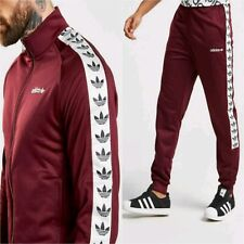 LG adidas Originals TNT TAPE FIREBIRD Track Top & Track Pants burgundy LAST1