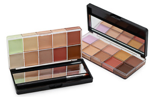 10 Pro Cream Correct palette Contour and Highlight Makeup Concealer+Angled Brush