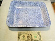 New listing Houston Harvest Blue Spongeware Baking Casserole Dish that is in good shape - Nr