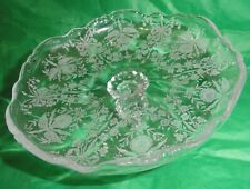 Vintage Heisey Etched Orchid Pattern Cheese Stand or Compote