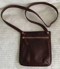 ELLINGTON Small Cowhide Dark Brown Leather Crossbody Purse Bag