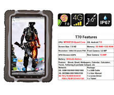 """Black 4G LTE HUGEROCK-T70 RUGGED Tablet 7"""" Smartphone Outdoor IP67 Android 7.0"""