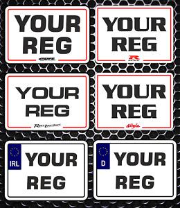 Show Motorbike 9 x 7 Bike Number Plate Smali Ireland / EU Use Not DVLA / UK Use