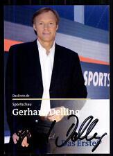 Gerhard Delling Sportschau Autogrammkarte Original Signiert ## BC 8062