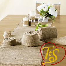 Hessian Table Runners Runner Sewed Edge Vintage Jute Wedding Party Decoration