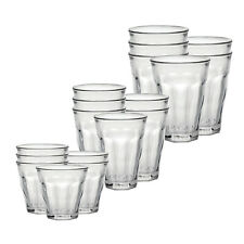 Duralex Picardie 18 Piece Clear Tempered Glass Drinkware and Tumbler Cup Set