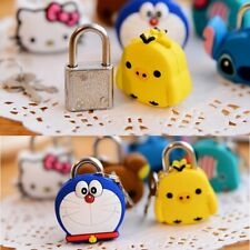 Creative Cute Silicone Cartoon Doll Metal Mini Padlock Security Anti-Theft