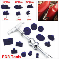 Car Body Paintless Dent Repair Removal Tool Kit PDR Puller Lifter T-Bar w/12 Tab