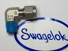 """1 - Swagelok Elbow Connector Fitting, 6 MM Tube x 1/8"""" Male NPT,  SS-6M0-2-2"""