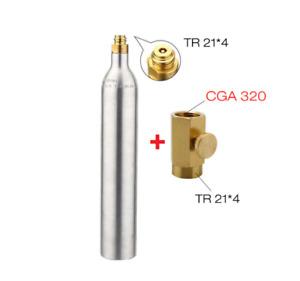 0.6L Soda Water Cylinder Co2 Bottle Tank 150BAR 2200PSI High Pressure Adapter
