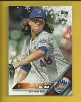 Jacob deGrom 2016 Topps Holiday Snowflake Card # HMW73 New York Mets Baseball