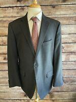 Peter Millar Wool Two Button Sport Coat Jacket 46R Gray Blazer