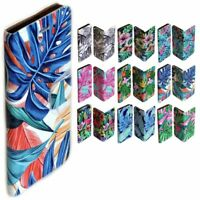 For LG Series - Tropical Leaf Print Pattern Wallet Mobile Phone Case Cover