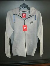 NWT Men's Nike Zip Light Gray Cotton Polyester Pocket Hoodie Jacket Size Small