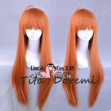 Halloween Wig Cosplay Persona5 Futaba Sakura orange long style fashion Hair