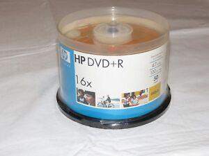 HP DVD+16X 50 Paquet 4.7 Go Données 120 Minutes Vidéo 50 DVD Disques Neuf Old