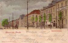 Ak Hamburg Altona Bahnhofstrasse Litho gel 1899