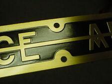 Pierce Arrow Car - Truck & Bus Hood Plate set 2 - 1915 - 1929 Brass Deep Etched