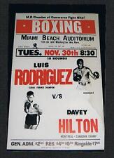 RARE 1971 Luis Rodriguez vs Davey Hilton Canadian Champion onsite boxing poster