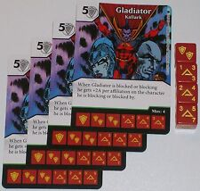 4 X GLADIATOR: KALLARK 87/142 The Amazing Spider-Man Dice Masters