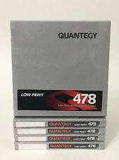 """Quantegy Low Print 478 Mastering Tape 1/4"""" X 1200' lot of 5 Brand New Sealed"""