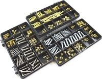M3 M4 M5 M6 THREADED BRASS INSERTS SLOTTED BARBED PRESS & SCREW FIT WITH SCREWS
