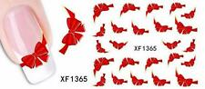 Red Bow 3D Nail Art Sticker Decal Decoration Manicure Water Transfer