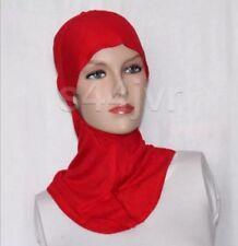 Écharpe Hijab sous polyester Ninja Cap Tête Cou Poitrine Couverture taille unique rouge