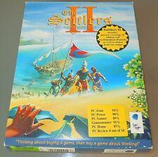 The Settlers II 2 Veni Vidi Vici PC CD-ROM original Big Box Release Game W95 VGC