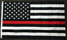 3x5 First Responder USA American Fire Dept. Department Red Line Flag 3'x5'