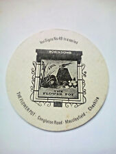 Vintage ROBINSONS - INN SIGNS - THE FLOWER POT - Cat No'106 Beermat / Coaster